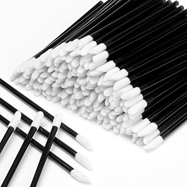 jednorázové aplikátory na rtěnku hůlky 600ks rtěnka aplikátory na rty tester hůlky jednorázové štětce na rty jednorázové aplikátory make-upu štětce na nářadí černé sady