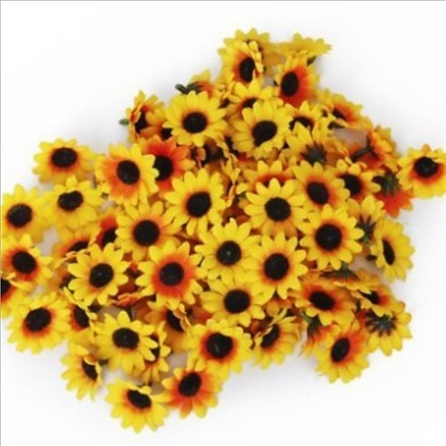 Simulation of Flower Head of Small Sunflower 1 Pack