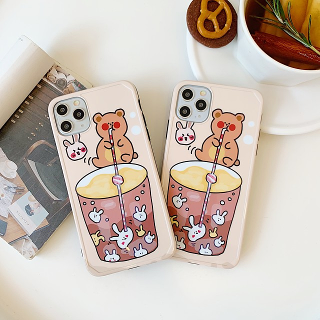 Case For Apple iphone 11 11pro 11proMax x XS XR XSMax 8p 8 7P 7 SE(2020)Cover TPU Cartoonsoft shell  iphone case set