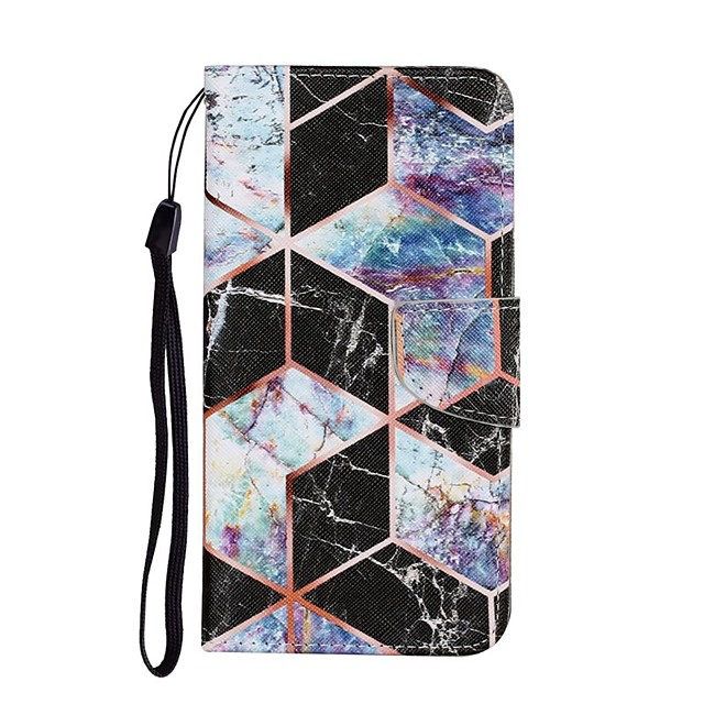 Case For Apple iPhone 12 iPhone SE 2020 11 Pro Max XS Max XR X 7 8 Plus 6 6s Plus Wallet Card Holder with Stand Full Body Cases Marble PU Leather
