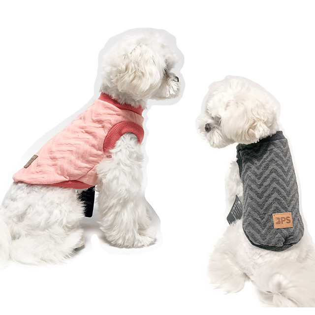 Dog Coat Vest Color Block Casual / Sporty Fashion Casual / Daily Winter Dog Clothes Puppy Clothes Dog Outfits Breathable Pink Green Gray Costume for Girl and Boy Dog Cotton S M L XL XXL 3XL