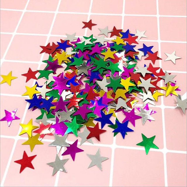 Five Pointed Star Love Sequins Wedding Ceremony Throwing Paper Decoration