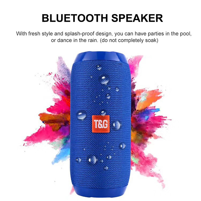 Bluetooth Speaker Portable Outdoor Sport Loudspeaker Wireless Mini Column Music Player Support TF Card FM Radio Aux Input