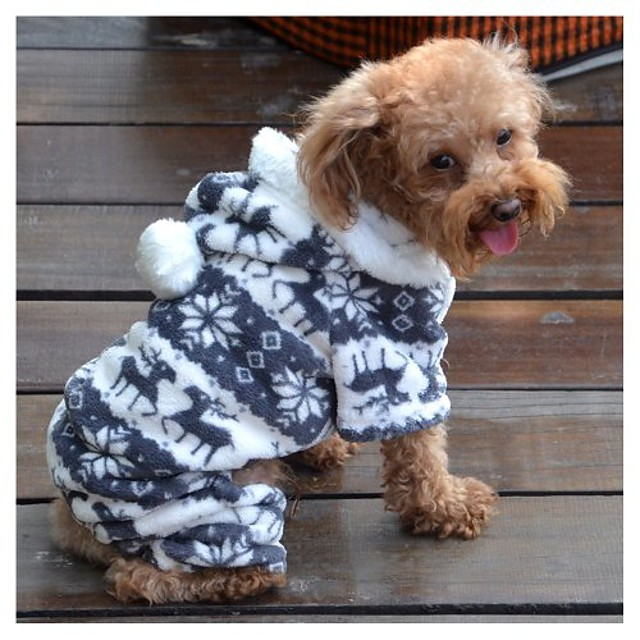 halloween cosplay custume pet puppy dog clothes luxury deer pattern lovely hoodies coat clothes apparel size xl