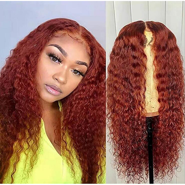 Synthetic Wig Afro Curly Layered Haircut Wig Very Long Orange Synthetic Hair 62-66 inch Women's African American Wig Burgundy