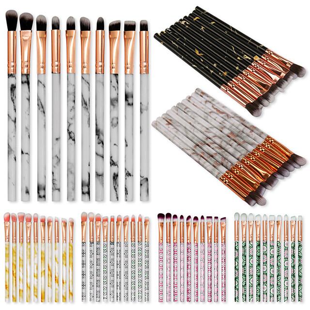10 Pcs Eye Brushes Beauty Tools Marble Makeup Brush Set Marble Eye Shadow and Eyebrow Brush