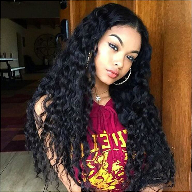 Synthetic Wig Afro Curly with Baby Hair Wig Very Long Light Brown Wine Red Natural Black Synthetic Hair 62-68 inch Women's African American Wig Black Light Brown