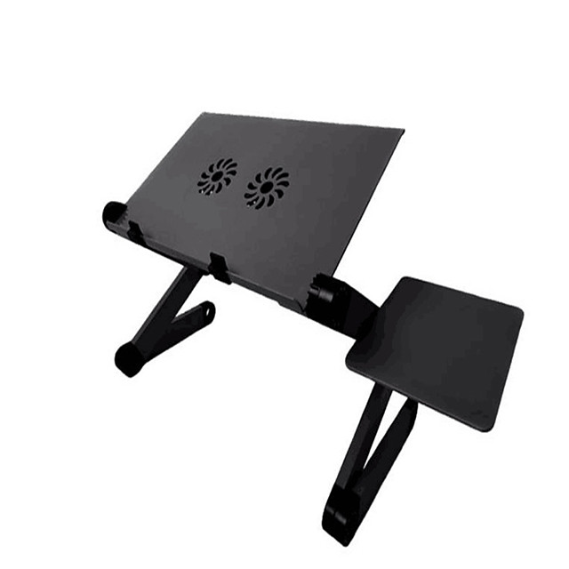 llano YL-803 Laptop Stand Holder Laptop Cooling Pad Aluminum Alloy Portable Foldable with USB Ports Fan