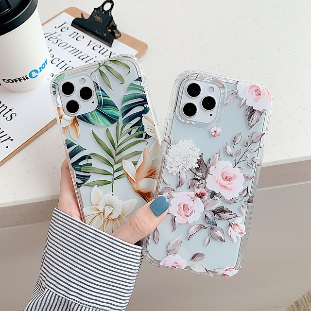 Case For Apple iPhone 11 Shockproof / Dustproof Back Cover Word / Phrase / Solid Colored TPU For Case iphone 11 Pro/11 Pro Max/7/8/7P/8P/SE 2020/X/Xs/Xs MAX/XR