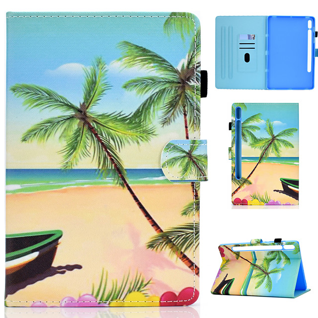 Case For Samsung Galaxy Tab S7 T870 875 Samsung Galaxy Tab A7 2020 T500 505 Card Holder Flip Magnetic Full Body Cases Animal Tree PU Leather