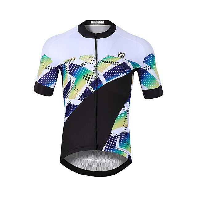 CAWANFLY Men's Short Sleeve Cycling Jersey Black / White Bike Jersey Top Mountain Bike MTB Road Bike Cycling Quick Dry Sports Clothing Apparel / Stretchy
