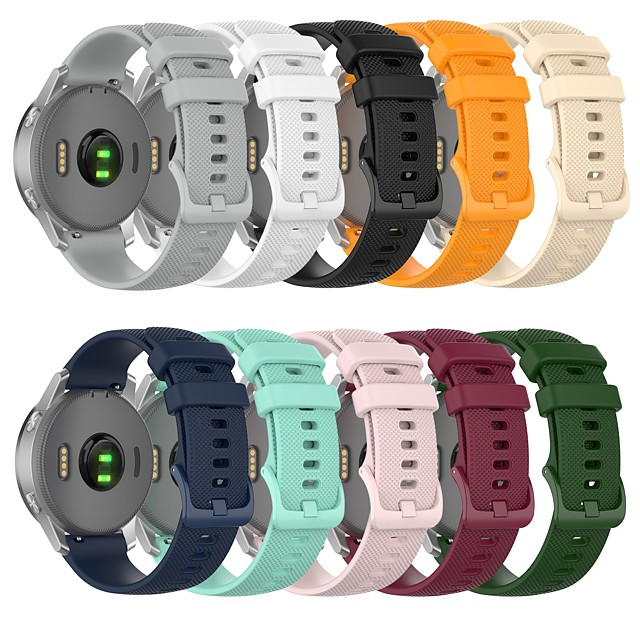 Watch Band for Garmin Active 22mm Garmin Vivoactive 4 Garmin Classic Buckle Silicone Wrist Strap