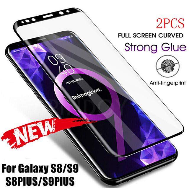 Samsung Galaxy S20Ultra Second Generation Enhanced Full-curved Screen Screen Printing Black Border White Border Note20 8 9 10Plus Anti-fingerprint Anti-scratch S9 S8 S10Plus HD Screen Protector 2PCS
