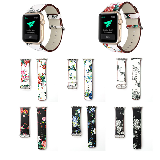 Watch Band for Apple Watch Series 6 SE 5 4 3 2 1  Apple Classic Buckle Quilted PU Leather Wrist Strap
