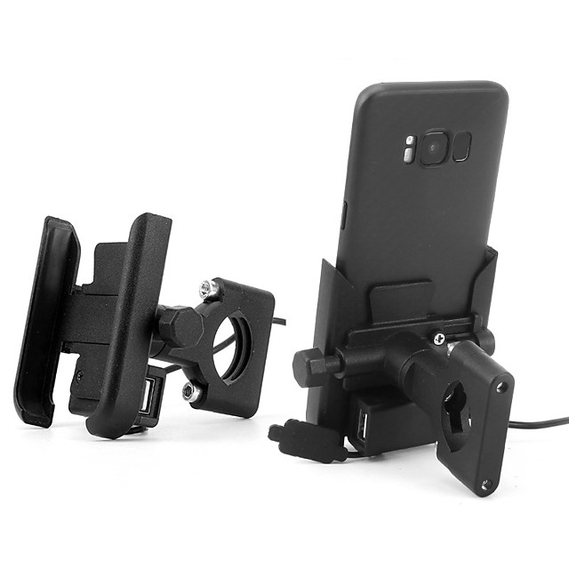 USB Charging Motorcycle Mobile Phone Bracket Holder Mirror Installation type For Motobike Used
