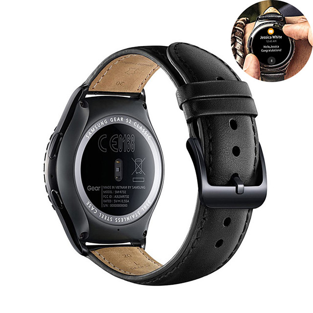 Leather Watch Band for Huawei Watch GT 2e / Honor Magic Watch 2 46mm 42mm / GT2 46mm / GT2 42mm / GT Active / Watch 2 / Watch 2 Pro Replaceable Bracelet Wrist Strap Wristband