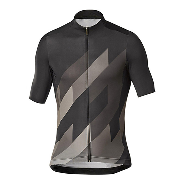 21Grams Men's Short Sleeve Cycling Jersey Grey Green Bike Jersey Top Mountain Bike MTB Road Bike Cycling UV Resistant Breathable Quick Dry Sports Clothing Apparel / Stretchy