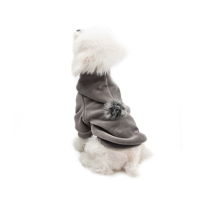 Dog Coat Hoodie Solid Colored Casual / Sporty Fashion Casual / Daily Winter Dog Clothes Puppy Clothes Dog Outfits Breathable Blue Gray Costume for Girl and Boy Dog Cotton S M L XL XXL