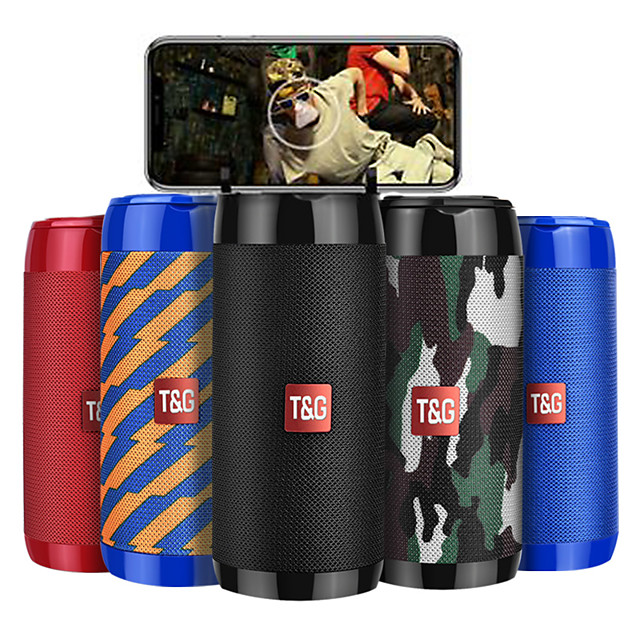 T&G Portable Bluetooth Speaker Waterproof Wireless Bluetooth Speaker  8D Surround Loudspeake TF Card/AUX /FM Radio /Call For Outdoor Sports