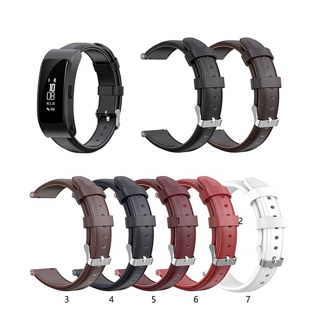 Watch Band for Huawei B3 Huawei Classic Buckle Quilted PU Leather Wrist Strap