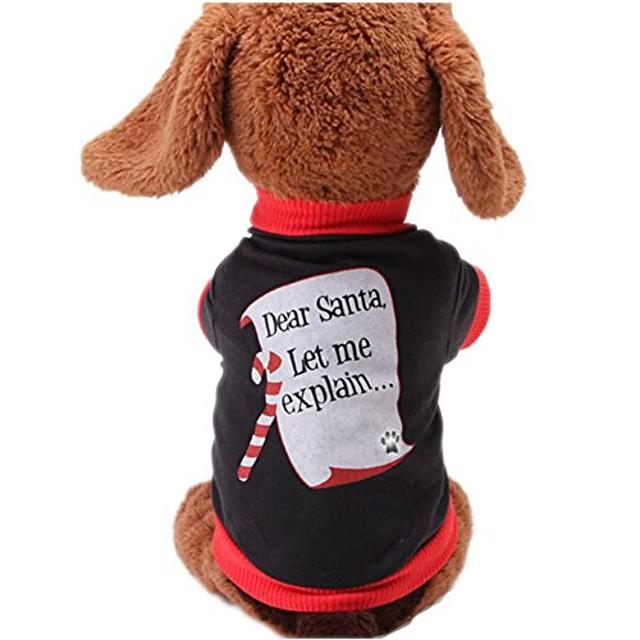 christmas sweetie dog coat xmas dog clothes dog jumpsuit soft cozy pet clothes pet sweater (l)