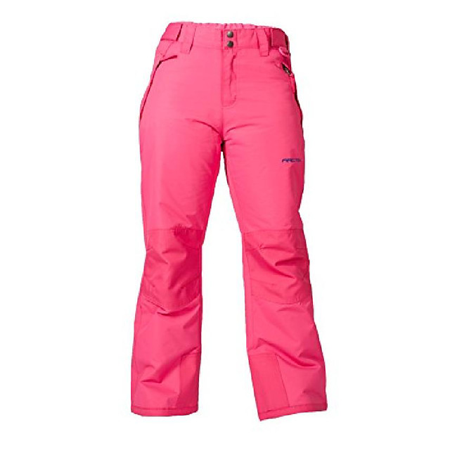 kids snow pants with reinforced knees and seat, fuchsia, 2t