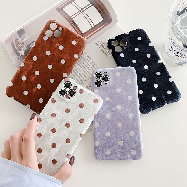 Case For iPhone 11 Pattern Back Cover Geometric Pattern Textile Case For iPhone 11 Pro Max / SE2020 / XS Max / XR XS 7 / 8 7 / 8 plus