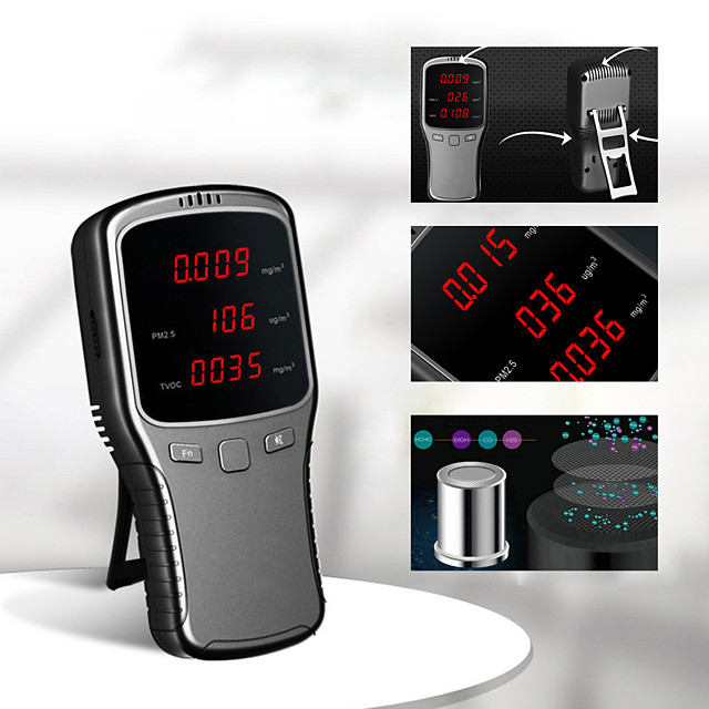 Home Formaldehyde Detector PM2.5 Air Quality Detector Haze Meter Air Tester