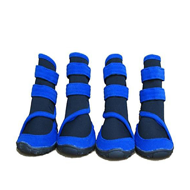 waterproof large dog boots pet shoes for large dogs 4 pcs (blue, m (3.3