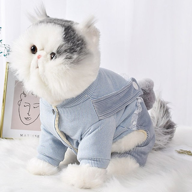 Dog Cat Coat Jumpsuit Character Casual / Sporty Fashion Casual / Daily Winter Dog Clothes Puppy Clothes Dog Outfits Breathable Blue Pink Costume for Girl and Boy Dog Cotton S M L XL XXL