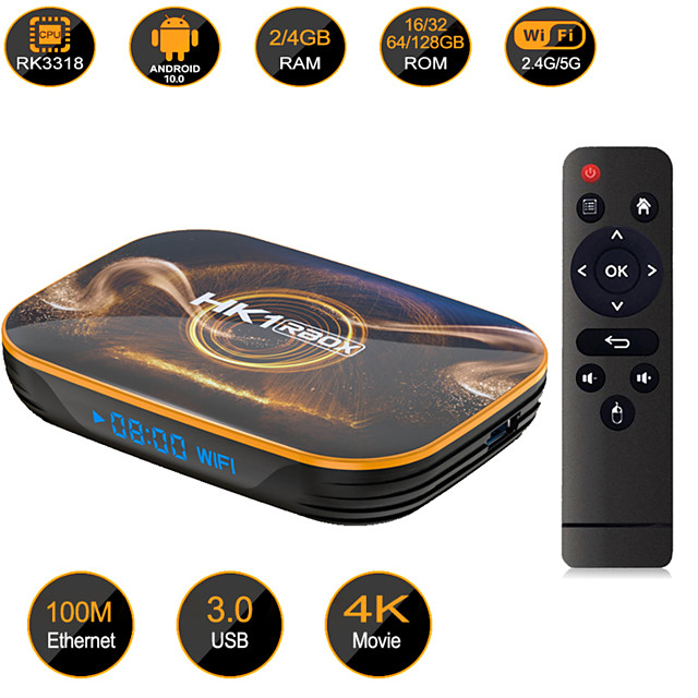 HK1 RBOX R1 TV Box Android 10 Set Top Box 4GB 32GB 64GB RK3318 Android Tv Media Player Smart Tv Box Android