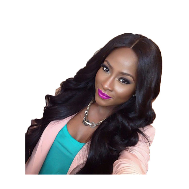 Synthetic Wig Loose Curl Middle Part Wig Very Long Black Synthetic Hair 28 inch Women's Party Classic Adorable Black