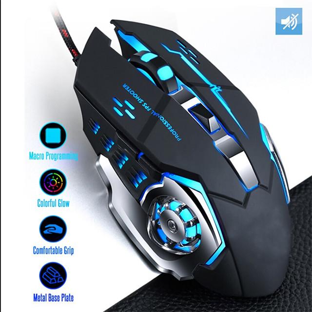 עכבר גיימינג קווית המקצועי 7 לחצנים 3500 dpi הוביל usb אופטי מחשב עכבר גיימר עכברים משחק עכבר עכבר שקט למחשב נייד
