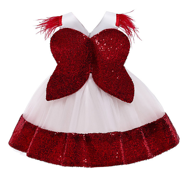 Princess Dress Costume Girls' Movie Cosplay Beautiful Girl Cute Vacation Dress Red / Pink / Green Dress Bow Christmas Halloween Carnival Polyester / Cotton Polyester