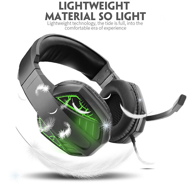 Surround Sound Gaming Headset Over Ear Headphones with Noise Canceling Mic RGB Light Compatible