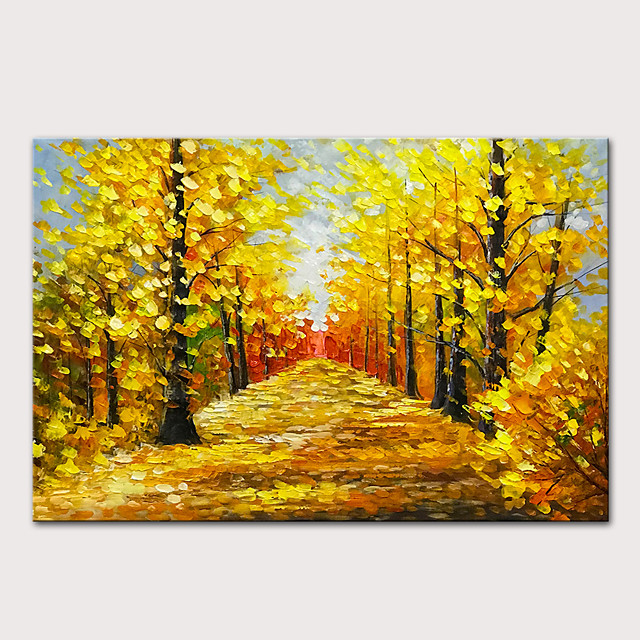Oil Painting Hand Painted - Landscape Abstract Landscape Modern Rolled Canvas (No Frame)