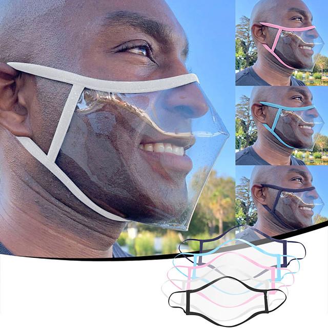 성인 남녀 립 언어 방진 스모그 및 안티 침 PVC 소재 투명 마스크