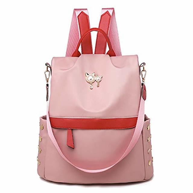 Leviro Printed Women Backpack Purse Waterproof Nylon Anti-theft Backpacks for Women School Shoulder Bag Camo Handbag