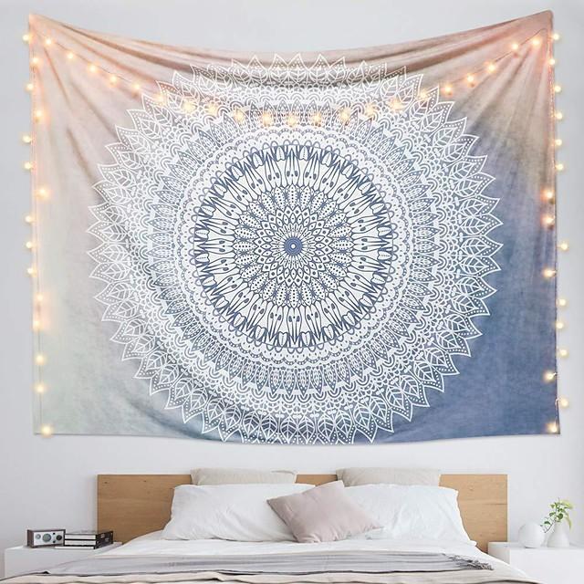 Tapiz de pared arte decoración manta cortina colgante hogar dormitorio sala de estar dormitorio decoración poliéster estampado mandala indio