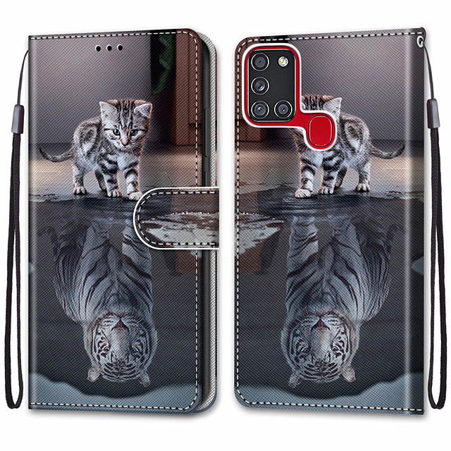Case For Samsung Galaxy Note 20 Galaxy Note 20 Ultra Galaxy A21s Wallet Card Holder with Stand Full Body Cases Cat Turns into Tiger PU Leather TPU for Galaxy A51 5G Galaxy A71 5G Galaxy S20 Ultra