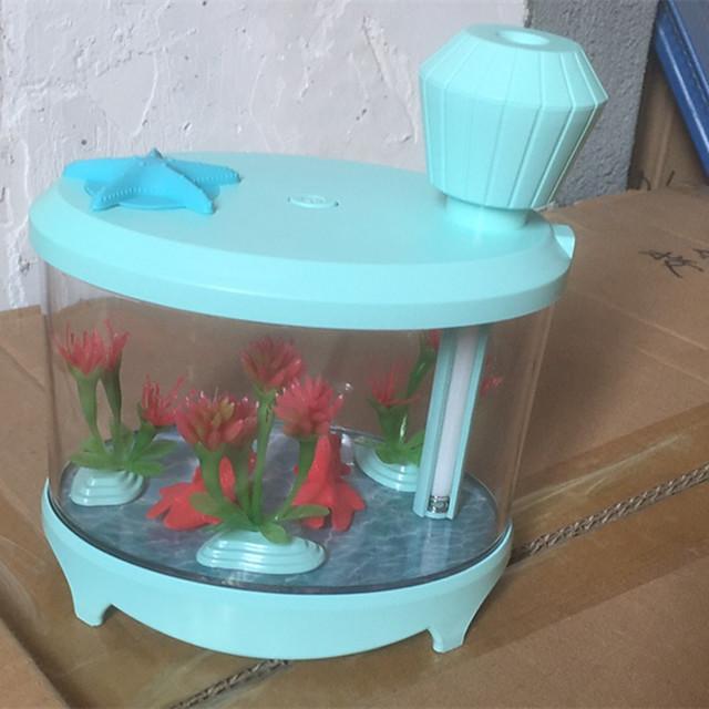 New Fish Tank Humidifier Mini Household Air Humidifier Usb Nightlight Humidifier Ultrasonic