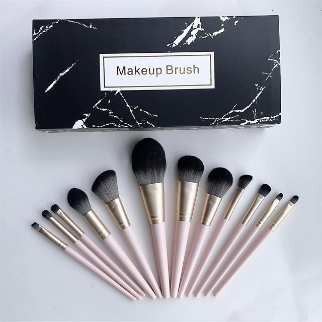 Makeup Brush Set 12Pcs Cosmetic Eyebrow Eyeshadow Brush Makeup Brush Sets Cosmetic Tools Kits