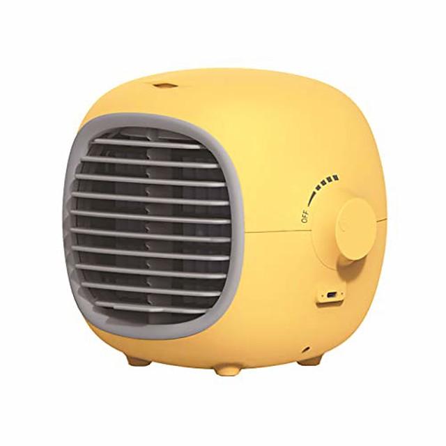 portable air coolers fan - usb mini air conditioner personal noiseless evaporative air humidifier table top mini air conditioner