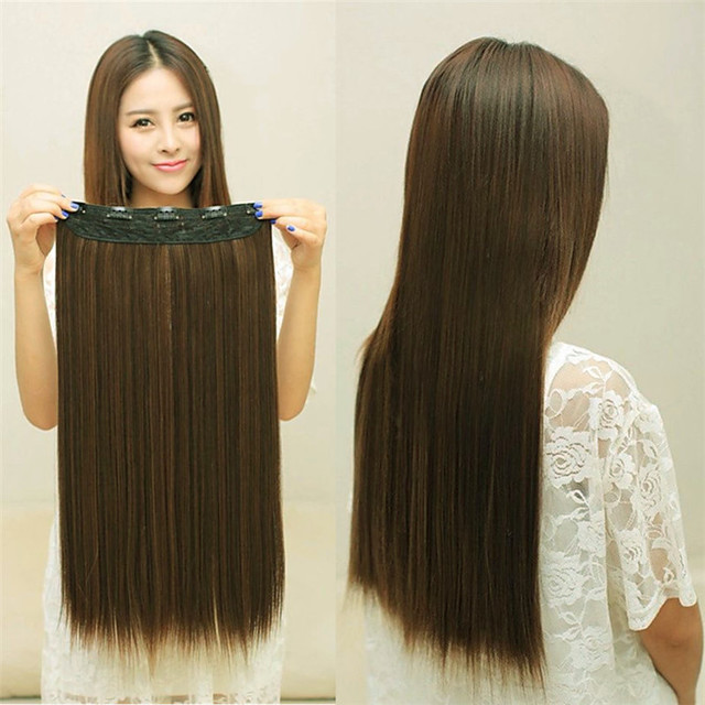 Synthetic Wig Straight kinky Straight Middle Part Wig Long Light Brown Synthetic Hair Women's Fashionable Design Soft Light Brown