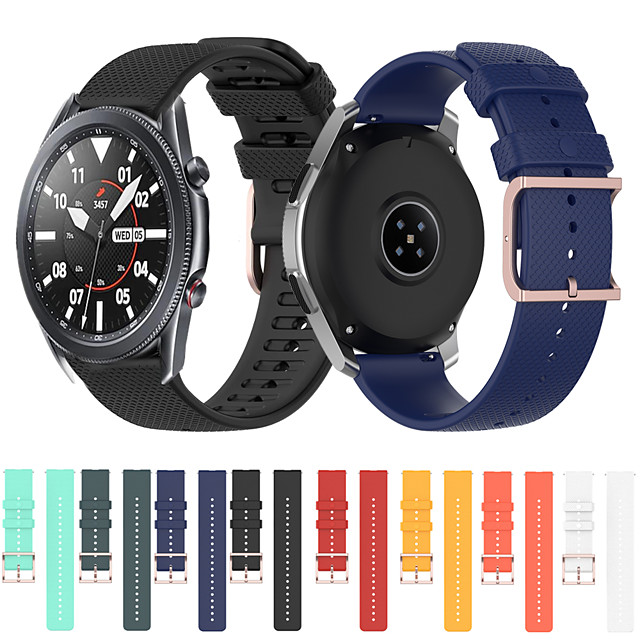 For Samsung Galaxy Watch 3 41mm 45mm 42mm 46mm Gear S3 S2 Classic Bands Silicone Replacement wirst Strap for Galaxy Active 2/3 Bracele