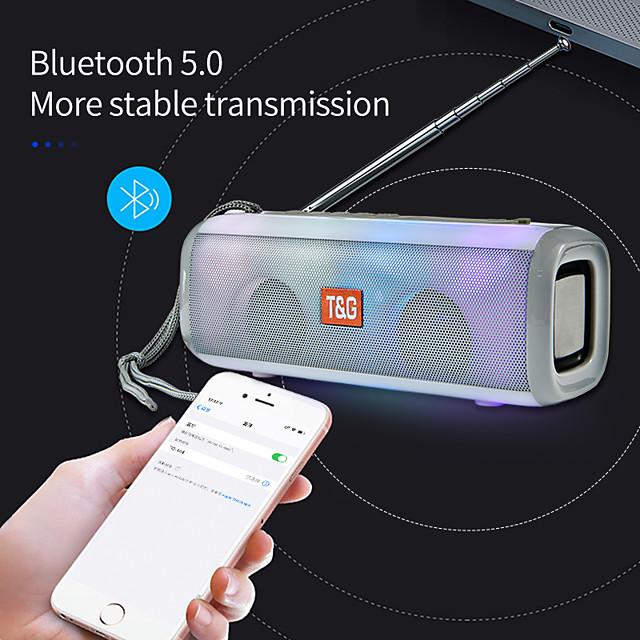 Wireless Bluetooth Speaker FM Radio LED Flash Light Portable Loudspeaker Wireless Column With FM Adjustable Antenna
