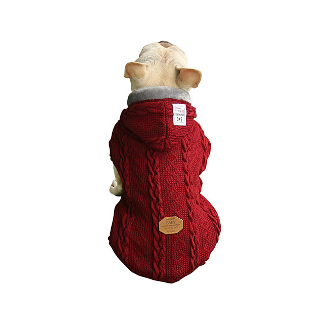 Dog Coat Sweater Solid Colored Casual / Sporty Fashion Casual / Daily Winter Dog Clothes Puppy Clothes Dog Outfits Breathable Red Blue Costume for Girl and Boy Dog Fleece Cotton S M L XL XXL