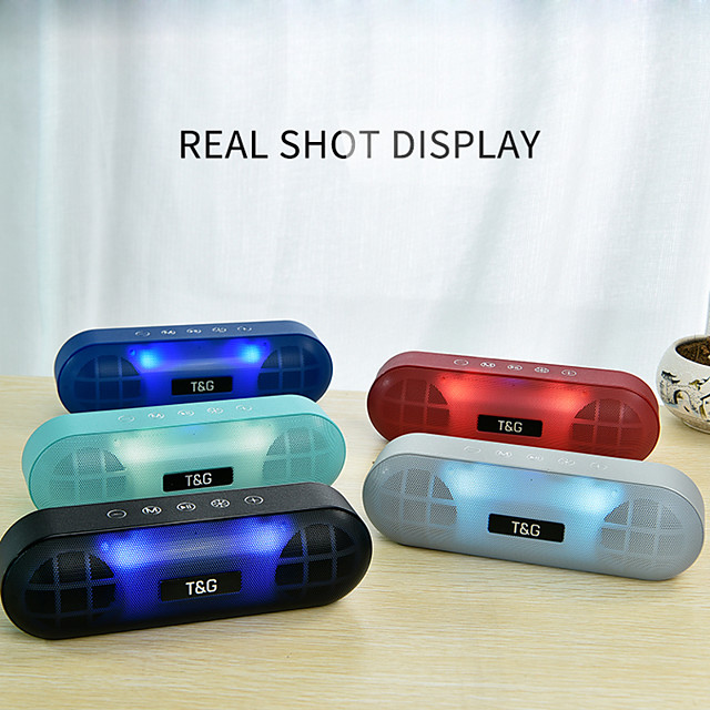 Mini LED Light Bluetooth Speaker Portable Outdoor Bass Wireless Loudspeaker 3D Stereo With Mic FM TF Card Line