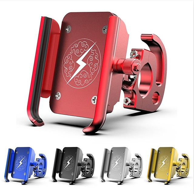 Motorcycle Phone Holder GPS Mount Holder Mountain Bike Rotary Navigation Aluminum Alloy Mobile Phone Bracket for Ios Android Phone