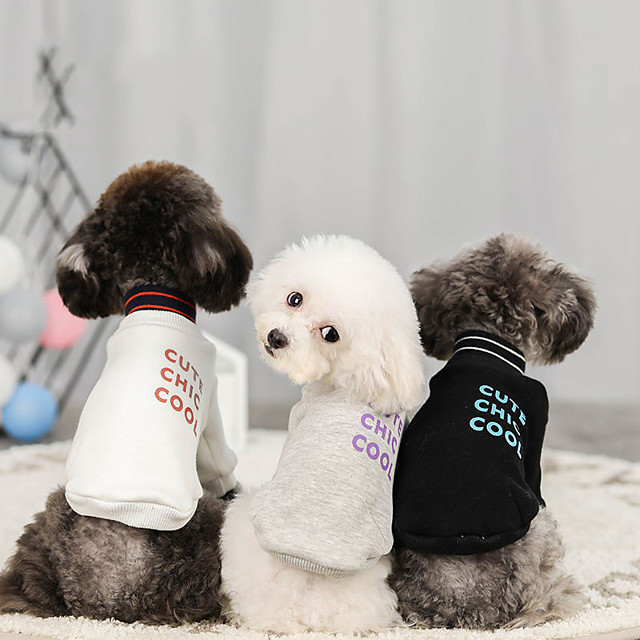 Dog Sweater Hoodie Solid Colored Casual / Sporty Fashion Casual / Daily Winter Dog Clothes Puppy Clothes Dog Outfits Breathable White Black Gray Costume for Girl and Boy Dog Cotton S M L XL XXL